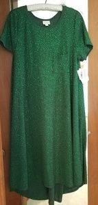 Holiday Sparkle Elegant Carly, large green